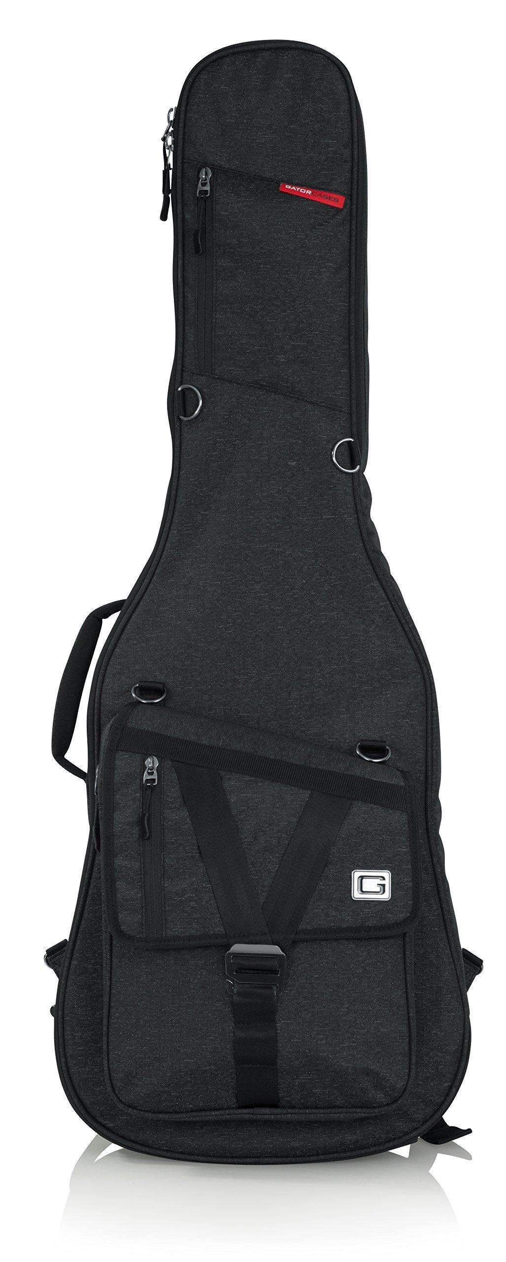 Gator Cases Transit Series Electric Guitar Gig Bag; Charcoal Black Exterior (GT-ELECTRIC-BLK)