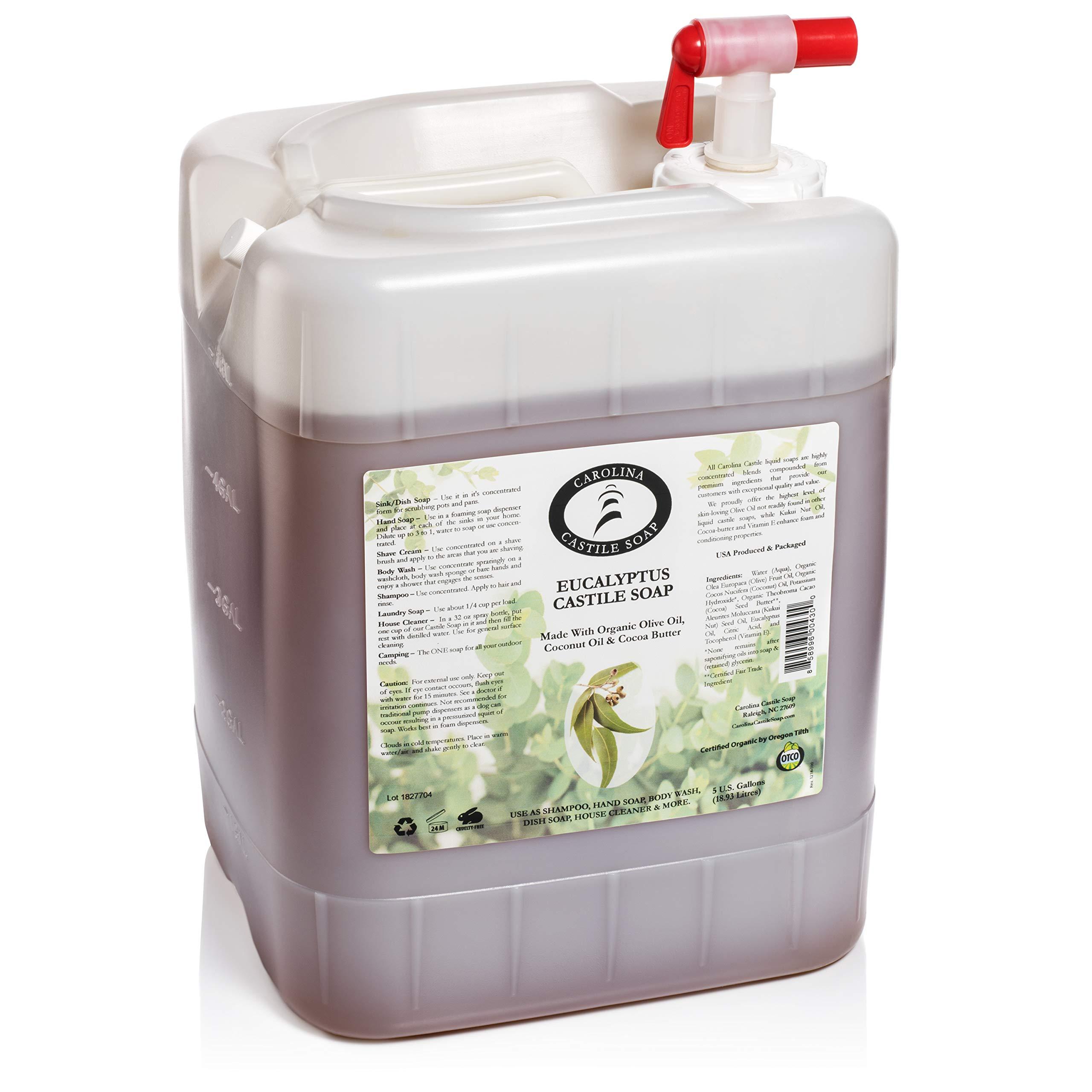 Eucalyptus Castile Soap (5 Gallon Jug)