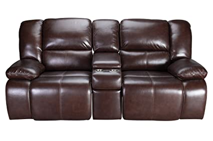 Amazon.com: Amarillo Power Reclining Leather Loveseat ...