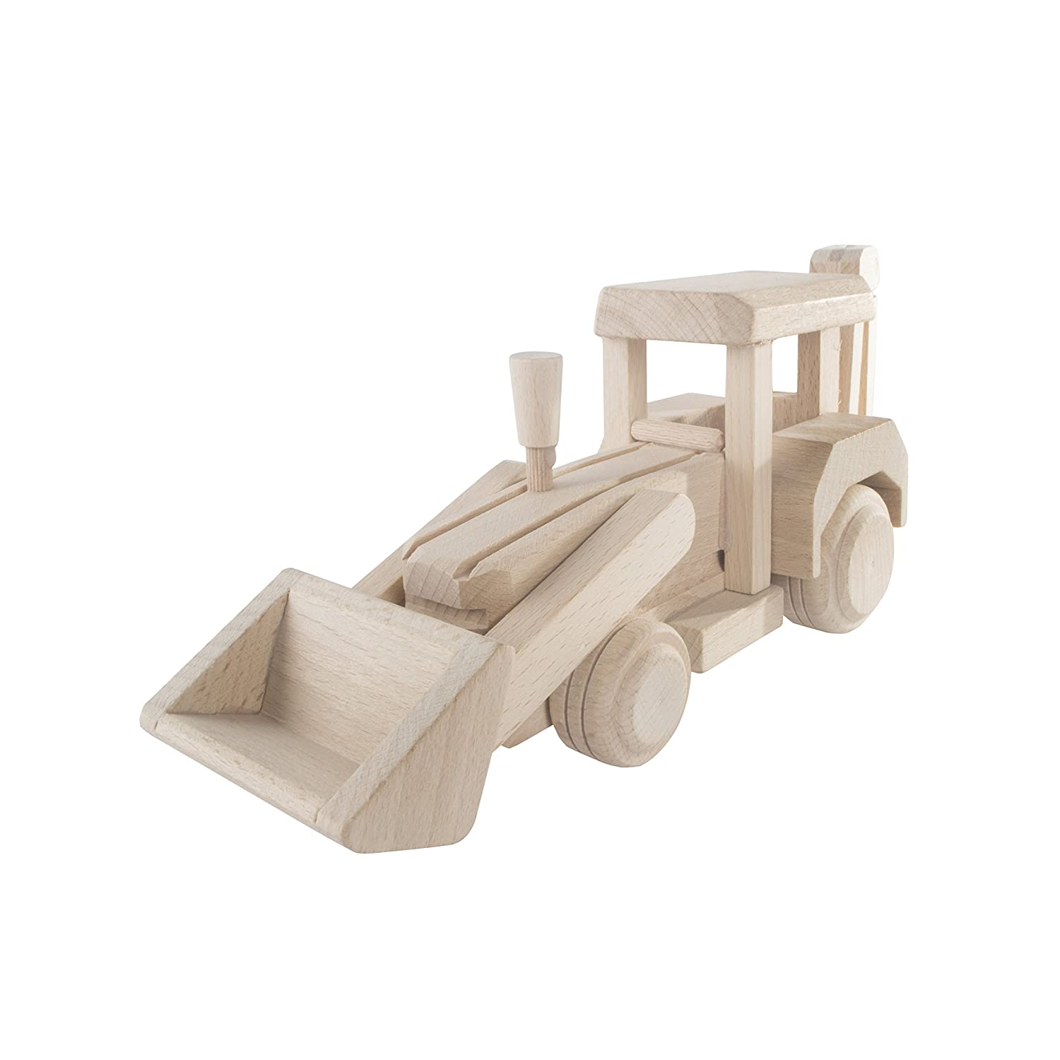 SEARCH BOX Wooden Tractor Pickup Truck Toy / Eco Friendly / Handmade / Art & Craft / Paint / 25x7x11 cm