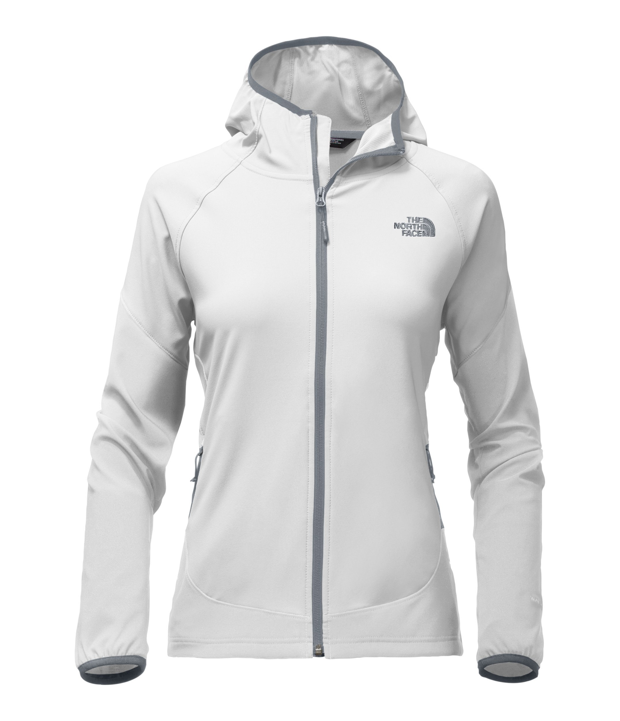 The North Face Women's Nimble Hoodie - TNF White & Mid Grey - XL