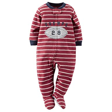 dfe8d1e58d Amazon.com  Carter s Boys Footed 1 Piece Fleece Sleeper Pajamas (5 ...
