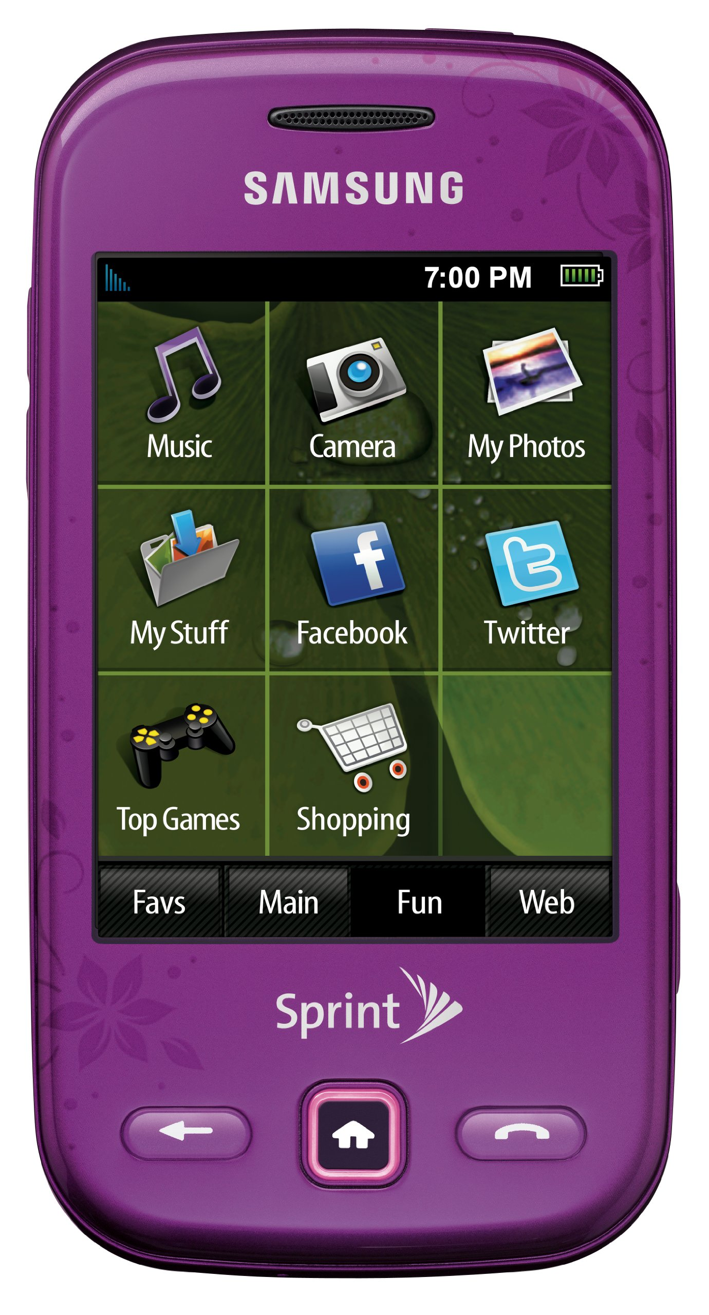 Samsung Trender Phone, Purple (Sprint)