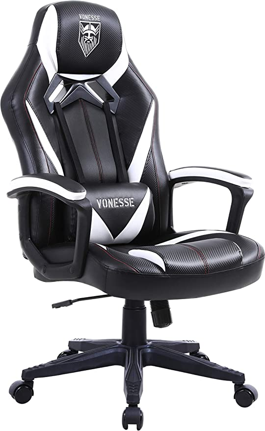 Amazon Com Ergonomic Gaming Chair Swivel Computer Gaming Chair With Massage Racing Style Home Office Chair High Back Gaming Desk Chair Carbon Fibre Modern Task Chair Esports Gamer Chair Big And Tall Black