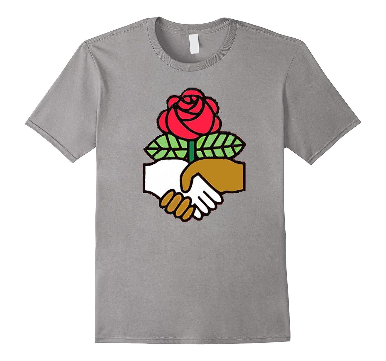 Democratic Socialists of America Handshake T-shirt-FL