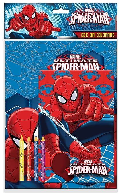 Amazon Com Marvel Ultimate Spiderman Spider Man Set Da Colorare