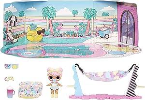 LOL Surprise Furniture Chill Patio with Dawn Doll and 10+ Surprises, Doll Patio Furniture Set, Accessories