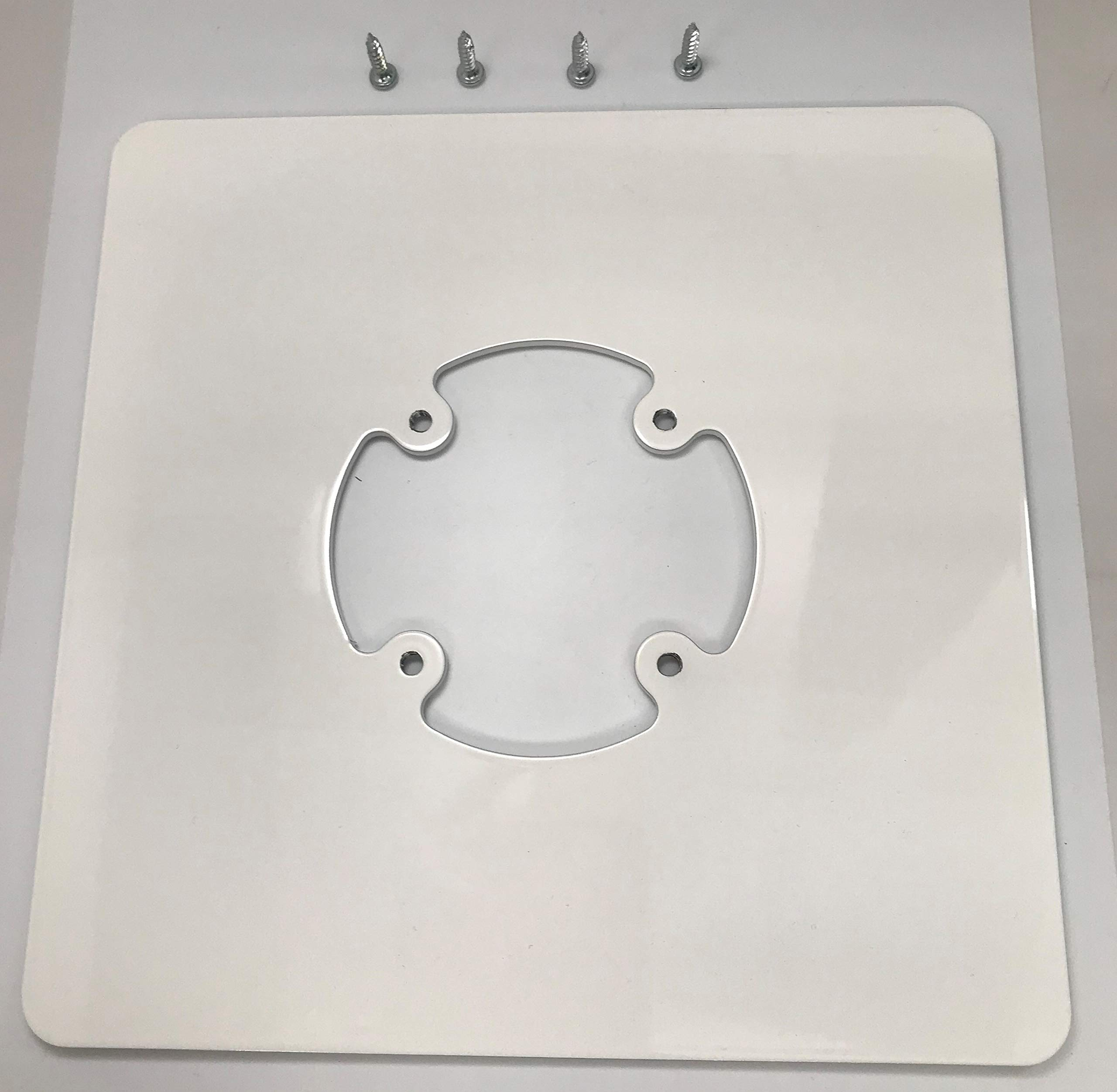 Freestanding Base Plate - White, Converts Swivel Stand to Stand Alone