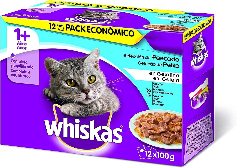 Whiskas Selección Multipack Bolsitas de Comida Húmeda para ...