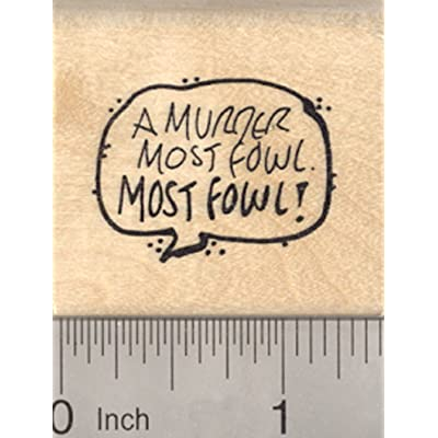 Murder of Crows Rubber Stamp, Murder Most Fowl, Crow: Arts, Crafts & Sewing