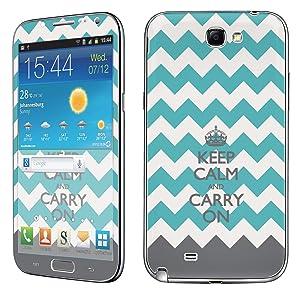Samsung [Galaxy Note 2] Phone Skin - [SkinGuardz] Full Body Scratch Proof Vinyl Decal Sticker with [WallPaper] - [Mint Chevron Calm] for Samsung Galaxy [Note 2]