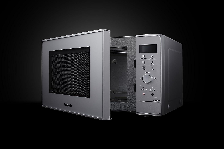 Panasonic NN-GD36HMSUG - Horno microondas Inverter, 23 l, 1000 W, accesorio Vapor+, 17 auto-programas, plato giratorio de 285 mm, color plata: Amazon.es: ...
