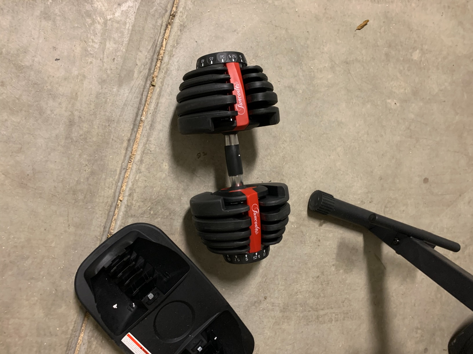 Funcode Adjustable Dumbbell, 5-52.5Lbs Weight Options, Anti-Slip Handle, All-Purpose, Home, Gym, Office photo review