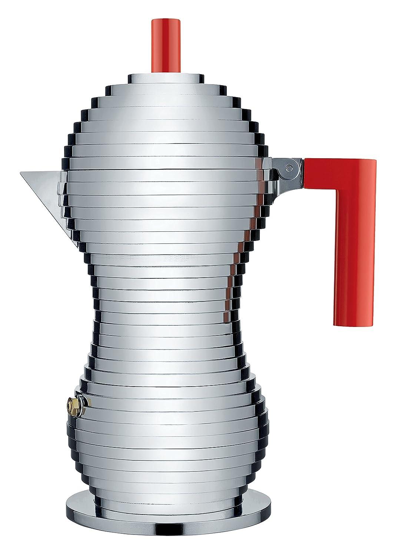Alessi MDL02/1 R Kaffeekanne, Aluminium, rot
