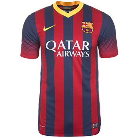 b3f738d47 NIKE Barcelona 2013-14 Men Authentic Football Soccer Jersey Shirt  532821-412 Men M Red Blue Yellow  Amazon.ca  Clothing   Accessories