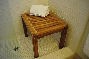 New Grade A Teak Shower Bench Sauna Or Steamroom Stool