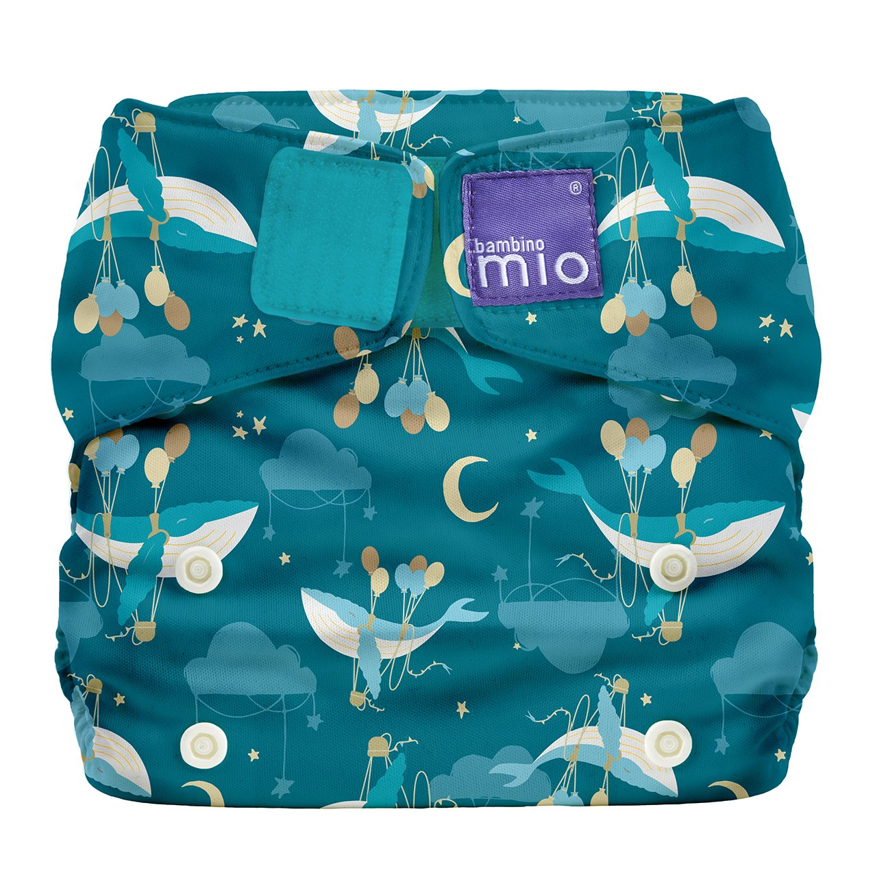 Bambino Mio, Miosolo All-In-One Reusable Nappy, Onesize, Bumble SO BUM