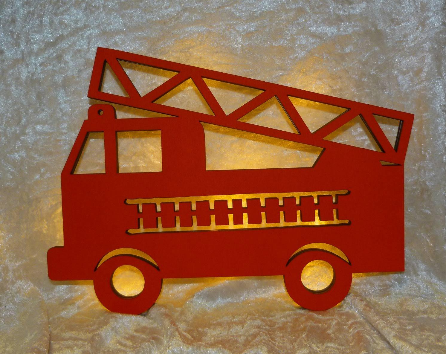 Feuerwehr nachtlicht feuerwehrauto led kinderlampe ...