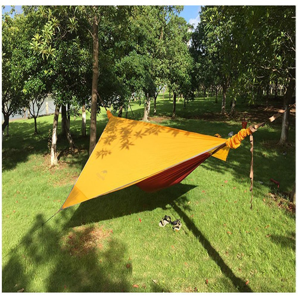 hanging rainproof hiking hammock rally products double tree self bed tent layer triangle camping outdoor suspension