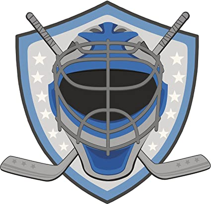 Amazon Com Hockey Goalie Mask Sticks And Icon Vinyl Decal Sticker