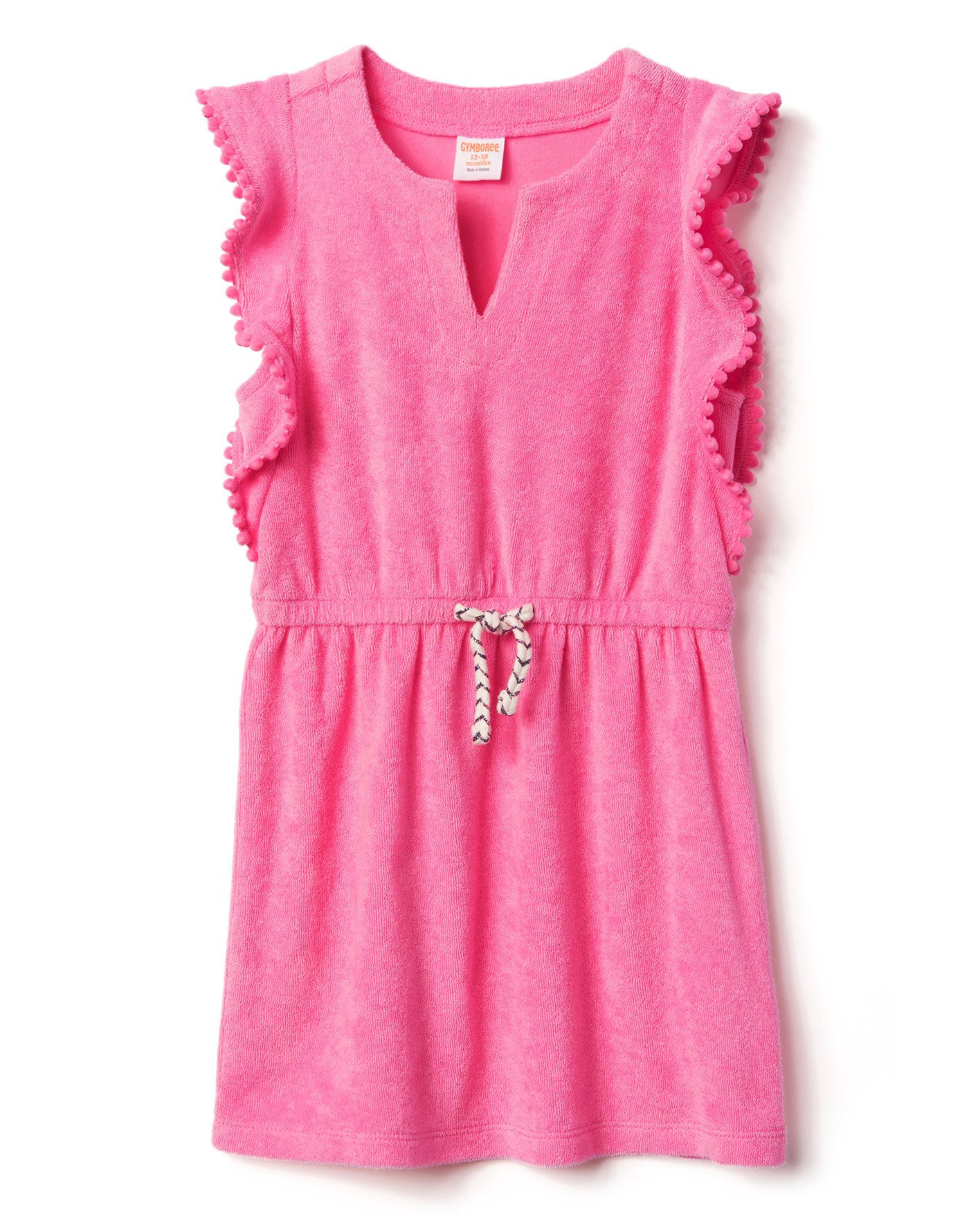 Gymboree Little Girls' Swim Pullover Cover up, Bright Rose, XS