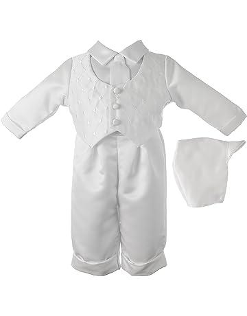 765fd1cb4145dc Lauren Madison Baby-Boys Newborn Christening Baptism Satin Long Pant Outfit  Set
