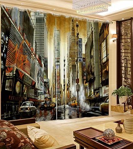 Amazon Com Sproud Classic City View 3d Curtain Luxury Living Room