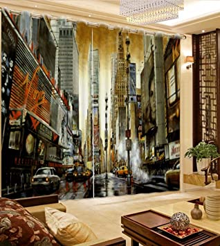 Charmant Sproud Classic City View 3D Curtain Luxury Living Room Curtains Printed  Children Room Sheer Curtains Thick