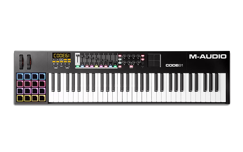 M-Audio Code 61 - Controlador MIDI USB con 61 teclas, 16 pads y controles para la producción, VIP 3 y paquete de software incluido, color negro: Amazon.es: ...