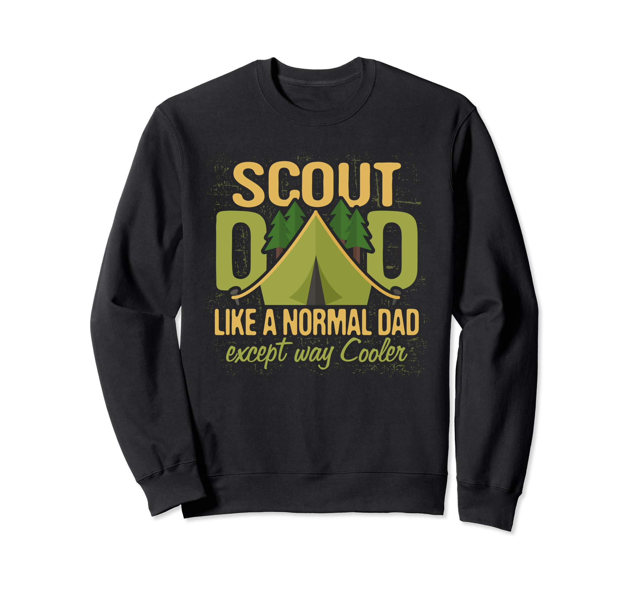 Scout Dad Cub Leader Boy Camping Scouting Troop Den Gift Men Sweatshirt by Scouting Shirts By Ark