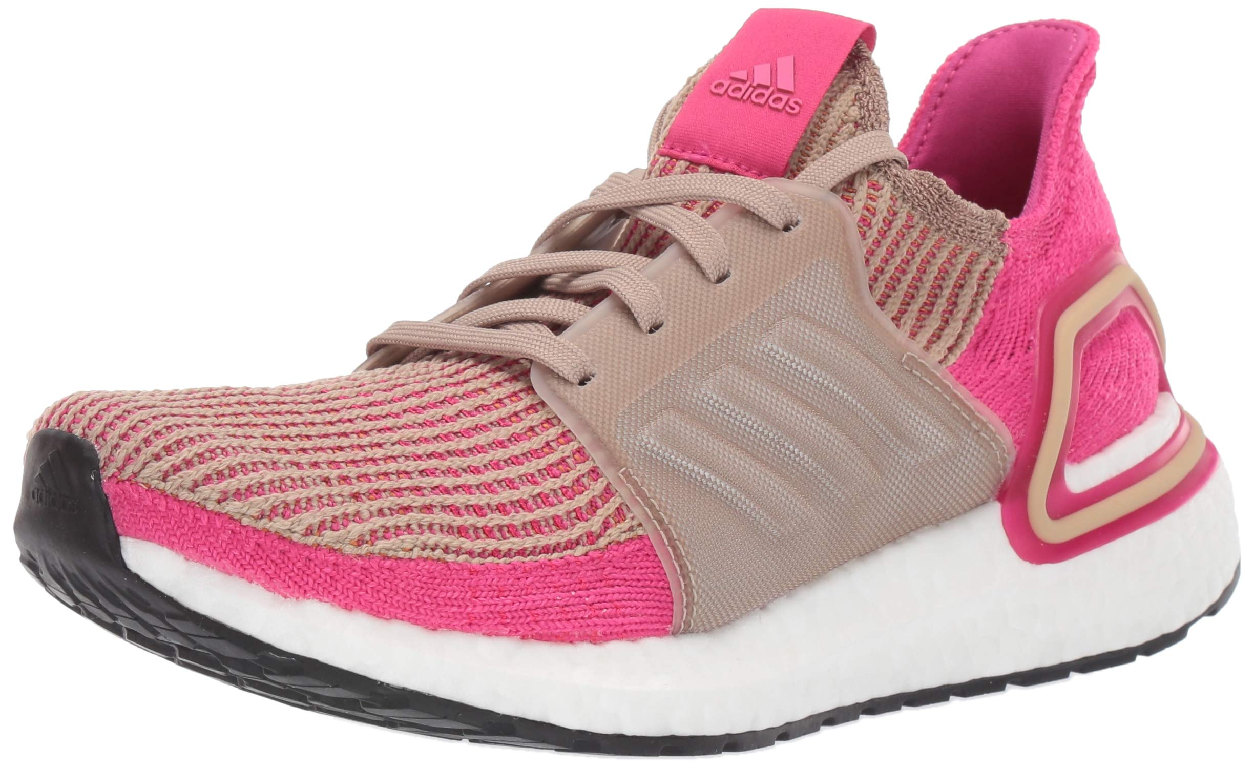adidas Women's Ultraboost 19 Running Shoe, Trace Khaki/Real Magenta/Shock Pink, 11 M US by adidas