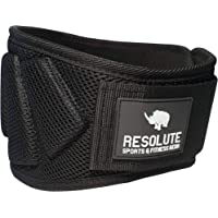 Resolute Fitness Weight Lifting Belt for Men and Women for Weight-Lifting, Crossfit, Olympic Lifting, Powerlifting, Squat and Deadlifts