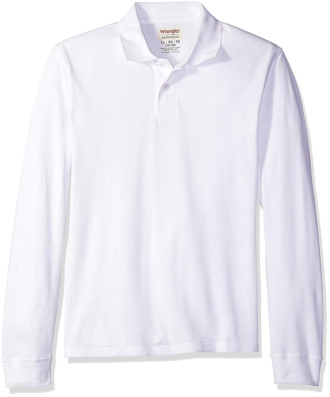 Wrangler Authentics Boys Long Sleeve Polo Shirt ZB1L