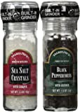 Trader Joe's Salt & Pepper Combo Pack w/ Grinders - Black Peppercorns and Sea Salt Crystals