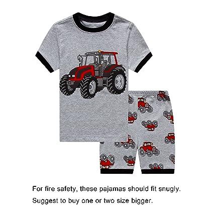 b4c47497bf IF Pajamas Baby Boys Snug-Fit Pajamas 100% Cotton Grey Pjs Clothes Infant  Kid 12-18