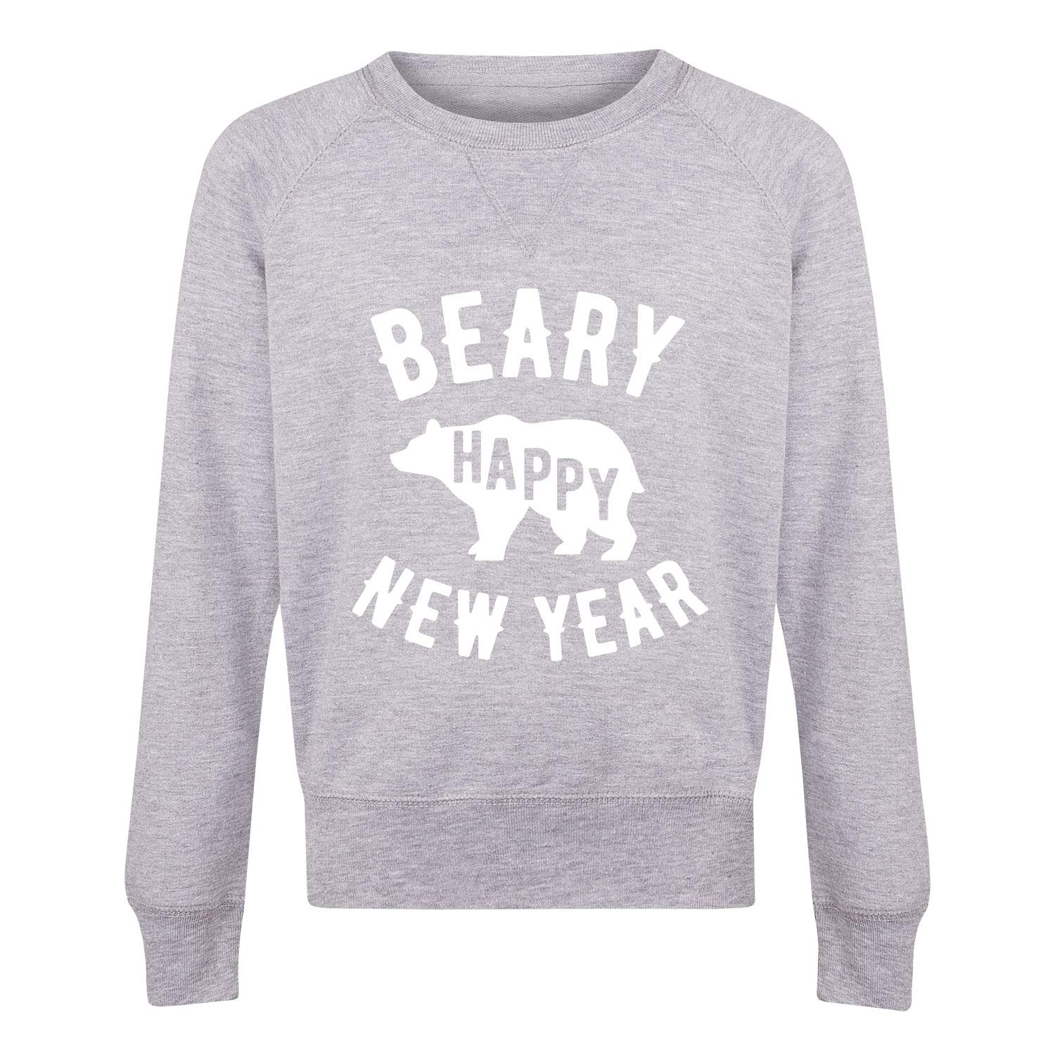 Beary Happy New Year New Years Eve Youth Girls Slouchy Ft