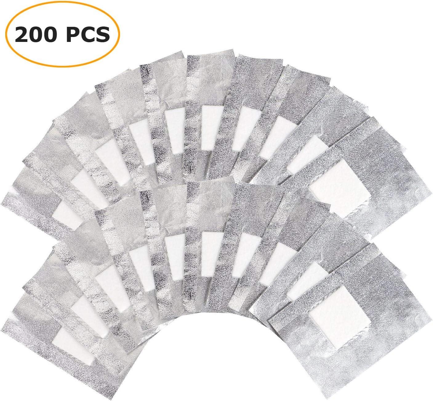 200 piezas quitaesmalte de uñas de gel, remoja las láminas de gel quitaesmalte de uñas con almohadilla de algodón más grande: Amazon.es: Belleza
