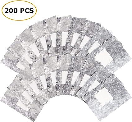 200 piezas quitaesmalte de uñas de gel, remoja las láminas de gel ...
