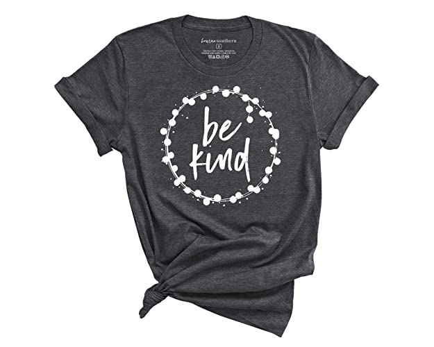 cbf6cd35 Image Unavailable. Image not available for. Color: BOURNE SOUTHERN Be Kind  Women's Graphic Printed Fashion T-Shirt