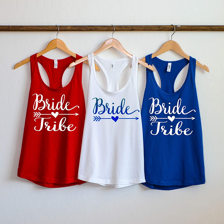 8f243e536 Amazon.com: Bride Tribe Tank Top, Bride Tribe Shirts, Bride Tribe  Bachelorette Party shirts, Bridal Party shirts, bridesmaid shirts,: Handmade