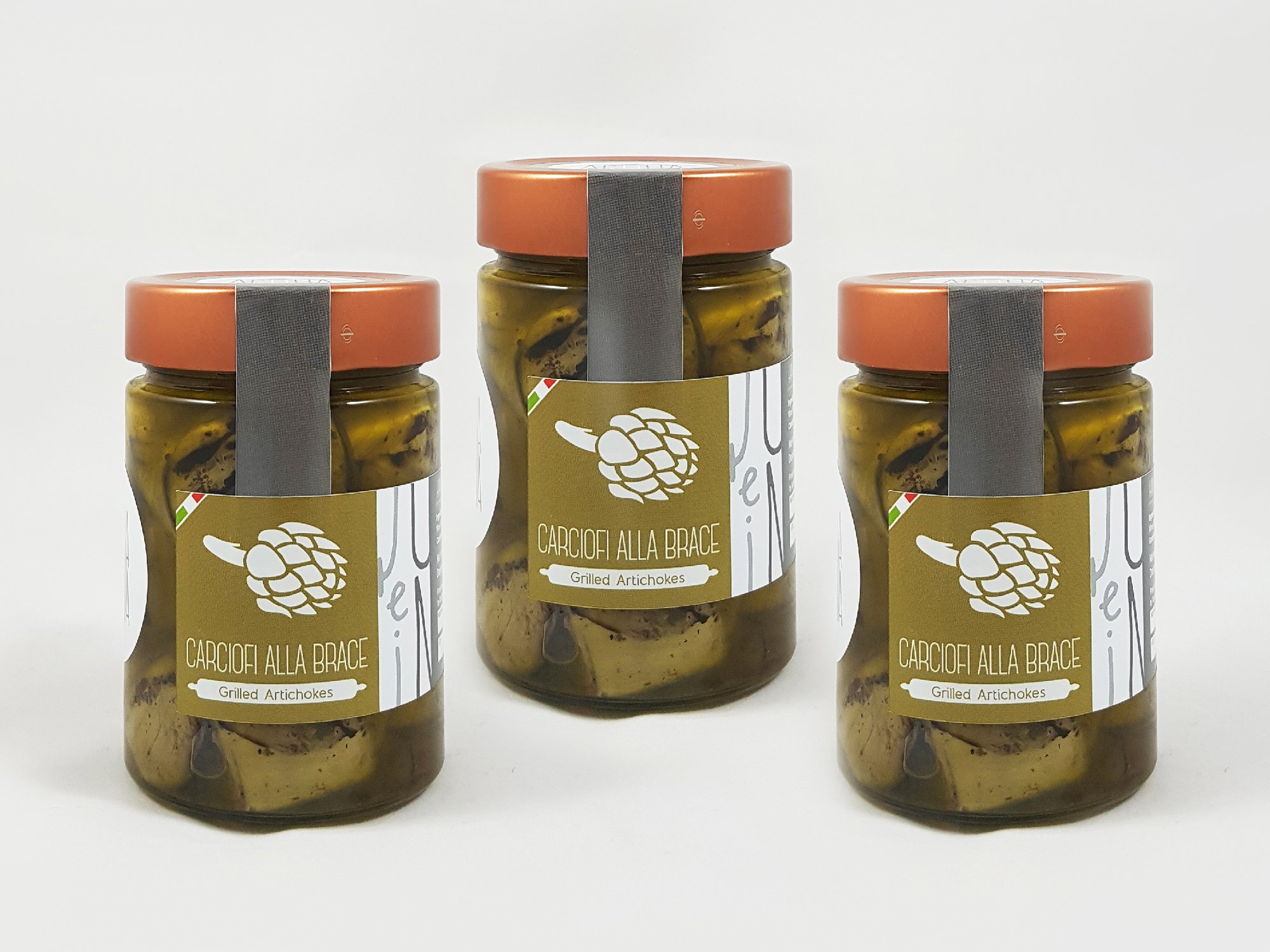 Grilled Artichokes in E.V.O. Oil pack of 3