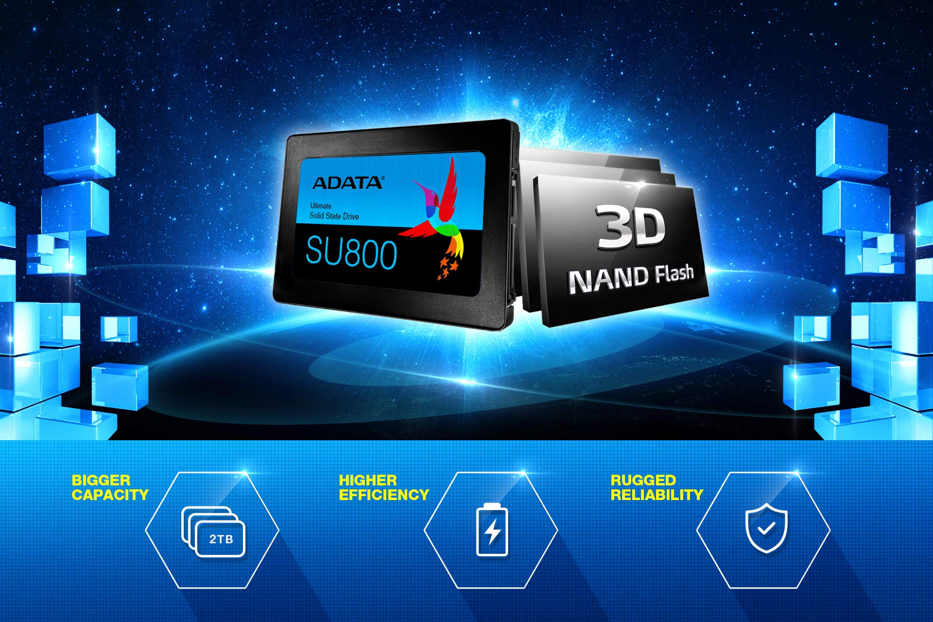 ADATA SU800 2TB 3D-NAND 2.5 Inch SATA III High Speed Read & Write up to 560MB/s & 520MB/s Solid State Drive (ASU800SS-2TT-C) by ADATA (Image #7)