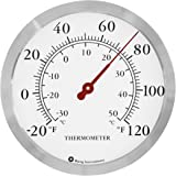Bjerg Stainless Steel Wall Thermometer, 12 Inch