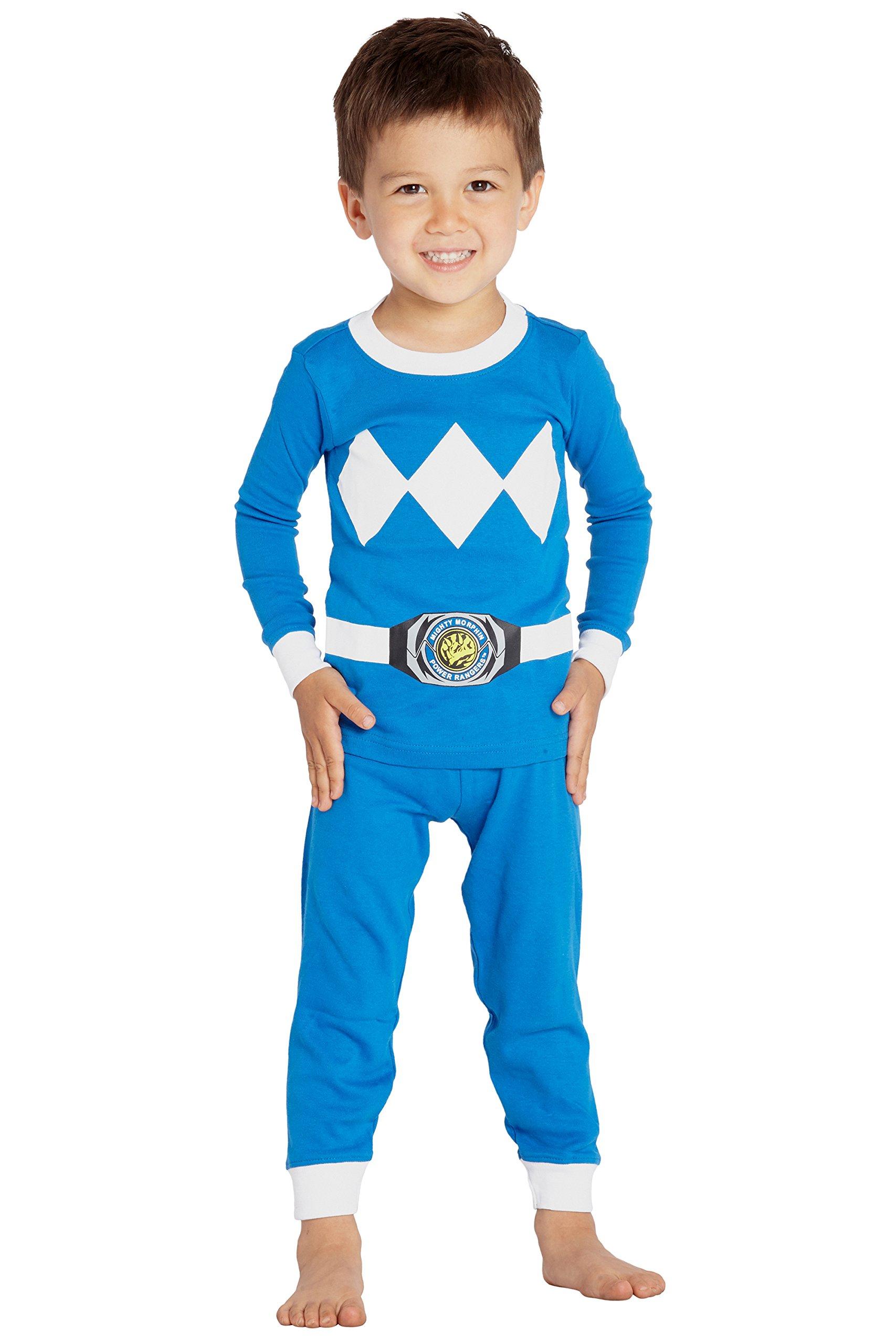 Mighty Morphin Power Rangers Costume Pajamas Boys Girls Saban Sleepwear