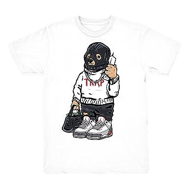 a151bb5deef Katrina 3 Trap Bear Shirts Match Jordan 3 Katrina Retro Sneakers White T- Shirt (