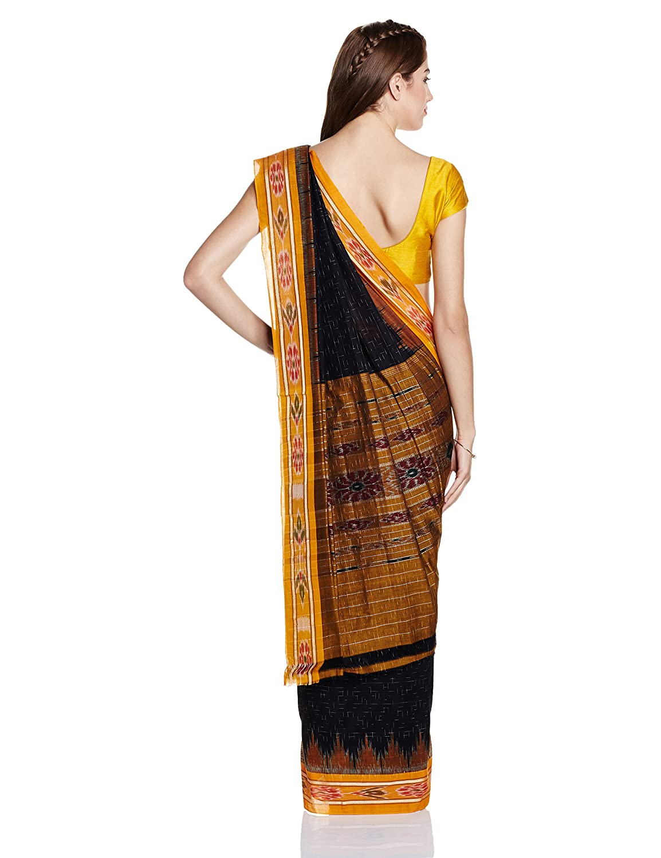 Black Nuapatna Cotton Handloom Saree