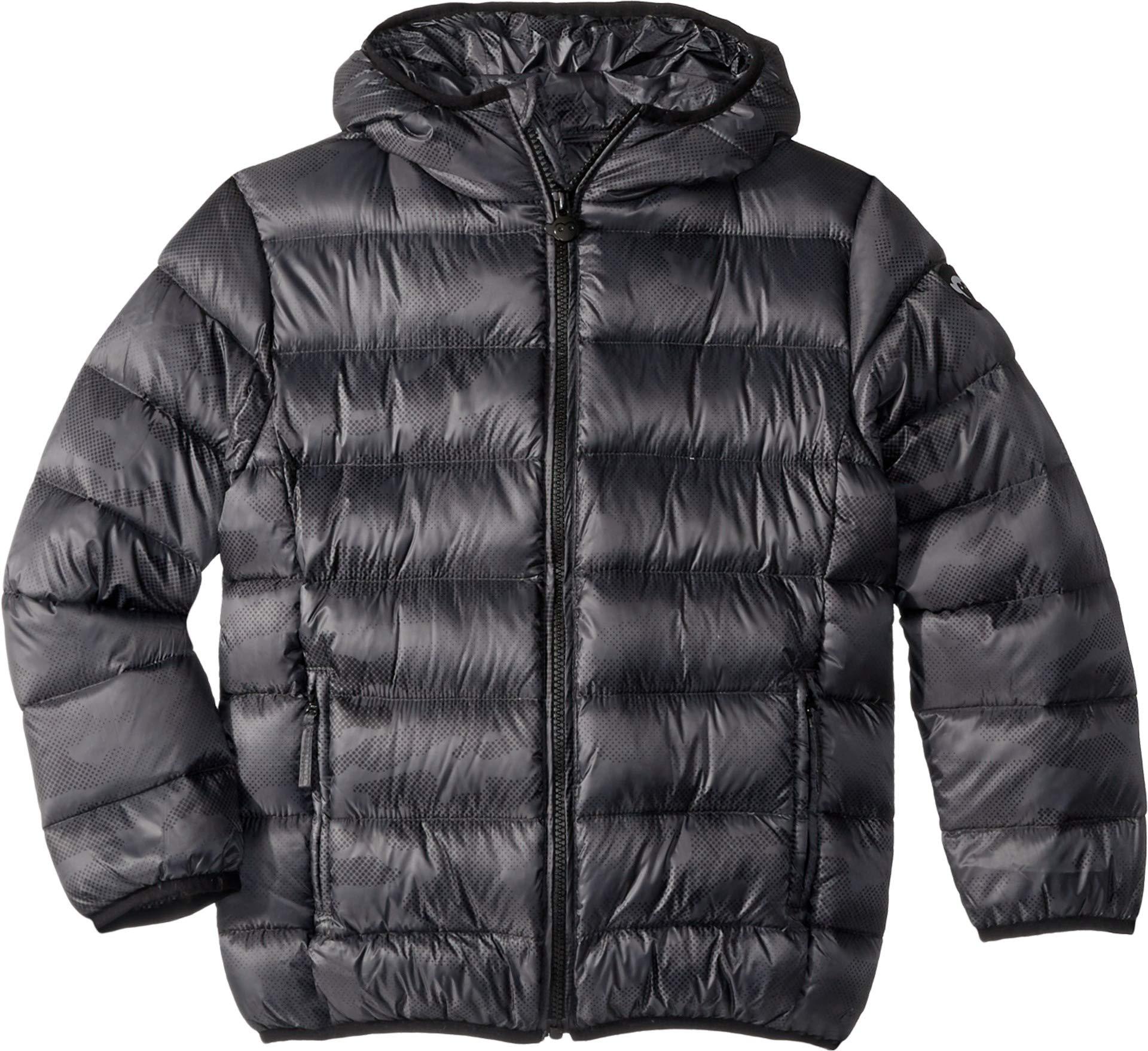 Appaman Kids Baby Boy's Extra Lightweight Packable Down Puffer Jacket (Toddler/Little Kids/Big Kids) Black Digi Camo 8
