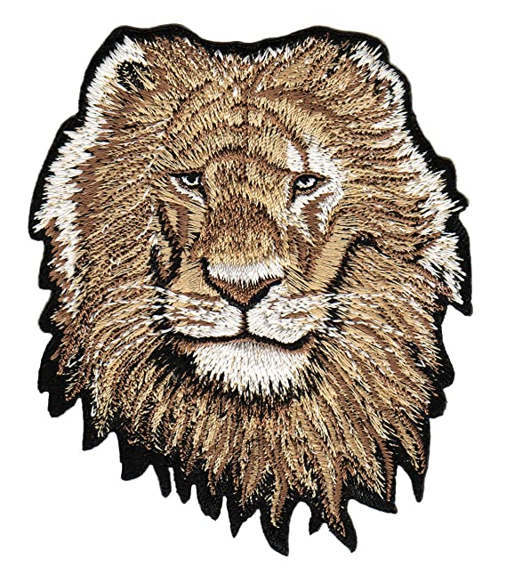 8ada140bd1807c Löwe Aufnäher Bügelbild  Amazon.de  Bekleidung