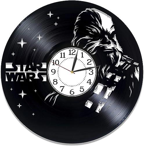 Kovides Chewbacca Handmade Clock Movie Original Home Decor Star Wars Vinyl Record Wall Clock Chewbacca Wall Clock 12 Inch