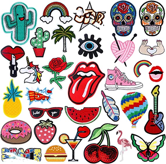 Time running Iron on  Patch Embroidered Patch Jacket Patch Clothes Patch Applique mask patch   16